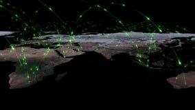 3D het teruggeven samenvatting van wereldnetwerk, Internet en globaal verbindingsconcept Elementen van dit die beeld door NASA wo Royalty-vrije Stock Afbeeldingen