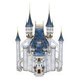 3D het Teruggeven Sprookjekasteel op Wit Stock Afbeeldingen
