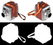 3D het teruggeven uitstekende professionele camera op witte backg Stock Fotografie