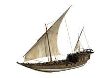 3D het Teruggeven Varend Schip op Wit Royalty-vrije Stock Foto