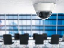 3d het teruggeven veiligheidscamera of kabeltelevisie-camera Stock Fotografie