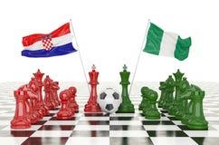 3D het teruggeven Voetbalkop 2018 royalty-vrije stock afbeeldingen