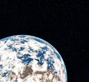 3D het Teruggeven Wereldbol van Ruimte Aarde Mening van Aarde van ruimte Elementen van dit die beeld door NASA wordt geleverd vector illustratie