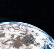 3D het Teruggeven Wereldbol van Ruimte Aarde Mening van Aarde van ruimte Elementen van dit die beeld door NASA wordt geleverd stock illustratie