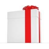 3D het teruggeven Witte giftdoos Stock Foto's