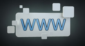 3D het teruggeven www bar van het Webpictogram Royalty-vrije Stock Afbeelding