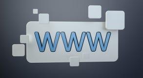 3D het teruggeven www bar van het Webpictogram Stock Fotografie