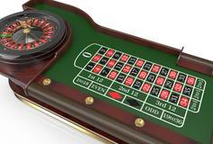 3D het Wiel van de casinoroulette geeft terug Stock Afbeelding