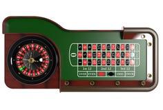 3D het Wiel van de casinoroulette geeft terug Stock Foto's