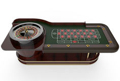 3D het Wiel van de casinoroulette geeft terug Royalty-vrije Stock Foto