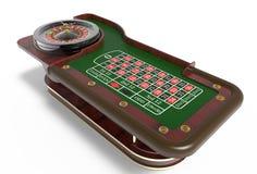 3D het Wiel van de casinoroulette geeft terug Royalty-vrije Stock Foto's