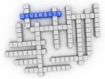 3d het woordwolk van het Diversiteitsconcept Stock Foto's