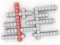 3d het woordwolk van het Farmacologieconcept Royalty-vrije Stock Foto