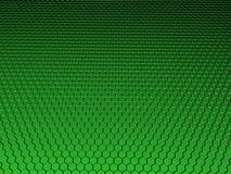 3D Hexagon Background. 3D hexagon green metallic background Royalty Free Stock Photos