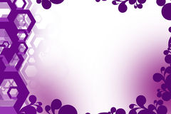 3d hexagon overlaping left side, abstrack background Stock Images