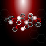 3d hexagon pattern Royalty Free Stock Photo