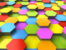 3d hexagonal background Royalty Free Stock Images