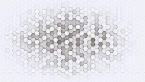 3d hexagonal background design structure. 3d hexagonal background design with white borders Stock Images