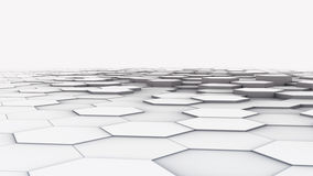 3D hexagonal background floor design Royalty Free Stock Photography