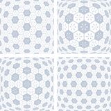 3D hexagons patterns. Abstract geometric backgrounds set. Vector art Royalty Free Stock Photo