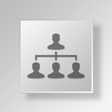 3D hierarchy Button Icon Concept Stock Photos