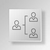 3D hierarchy icon Business Concept Royalty Free Stock Images