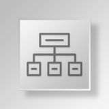 3D hierarchy icon Business Concept Royalty Free Stock Image