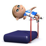 3d High jump Royalty Free Stock Photography