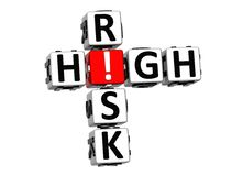 3D High Risk Crossword Royalty Free Stock Photography