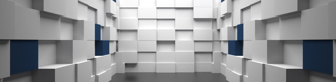 3D High Tech Room Background Stock Image