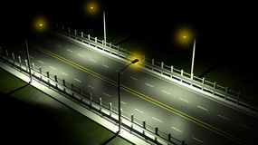 3D highway at night Royalty Free Stock Photo