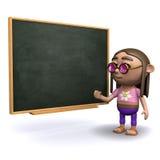 3d hipis blackboard Fotografia Royalty Free