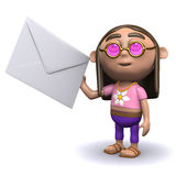3d Hippy has mail Royalty Free Stock Images