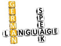 3D Hiszpańskiego języka Crossword Fotografia Stock