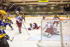 But d'hockey Photographie stock libre de droits