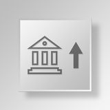 3D Hoge Rente Rate Button Icon Concept Stock Afbeeldingen