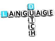 3D Holenderski Językowy Crossword Zdjęcie Royalty Free