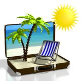3D holiday concept Royalty Free Stock Photo