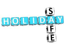 3D Holiday Safe Crossword. On white background Stock Photos