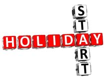 3D Holiday Start Crossword. On white background Royalty Free Stock Image