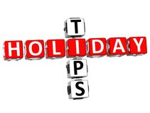 3D Holiday Tips Crossword. On white background Stock Photos