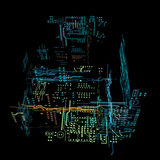 3d hologram futuristic interface Stock Images