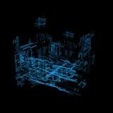3d hologram futuristic interface Stock Image