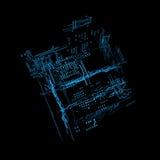 3d holograma futurystyczny interfejs Zdjęcia Stock