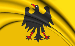 3D Holy Roman Emperor Flag Before 1400. Royalty Free Stock Image