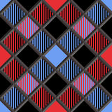 3D Holzfäller Tartan Seamless Pattern Lizenzfreies Stockfoto
