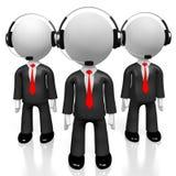 3D hombres de negocios - concepto del centro de atención telefónica Imagen de archivo libre de regalías