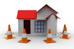 3d Home Construction Royalty Free Stock Images