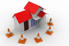 3d Home Construction Stock Image