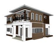 3D Home Design Stock Photos